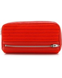 Alexander Wang Fumo Continental Double Bed Mesh Wallet - Lyst