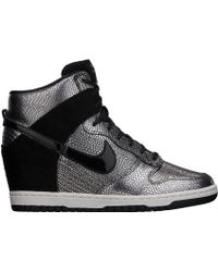 Nike Dunk Sky Hi Qs City (New York) silver - Lyst