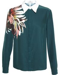 Erdem Silk Shirt with Floral Print - Lyst