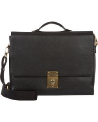Thom Browne Black Flap-front Briefcase - Lyst