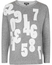Topshop | Numbers Knitted Sweatshirt | Lyst