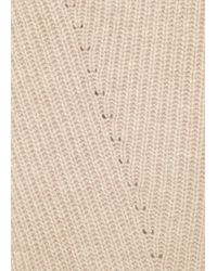 The Row Tippi Stone Wool And Cashmere Blend Top - Natural