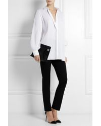 Victoria Beckham Pleated Poplin Shirt - Lyst