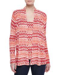 Neiman Marcus | Ikat Striped Cashmere Cardigan | Lyst