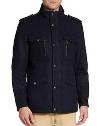 Michael Kors Woolblend Field Jacket - Lyst