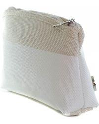 Black.co.uk - Murano Ivory and Ecru Cosmetic Bag - Lyst