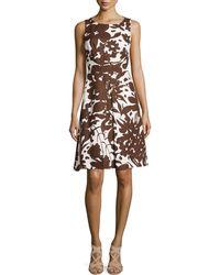 Michael Kors Blossom-Printed A-Line Dress - Lyst