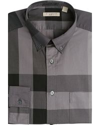 Burberry Brit Checked Cotton Shirt - Lyst