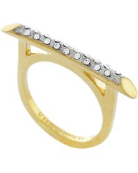 Vince Camuto - Delicate Lines Bridge Pave Slice Ring - Lyst