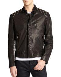 Hugo Ledrick Leather Moto Jacket - Lyst
