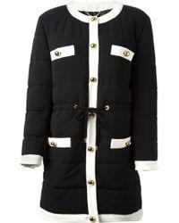 Moschino Black Padded Coat - Lyst