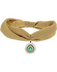 Topshop Jewelled Headband Turban gold - Lyst