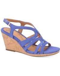 Söfft Corinth Platform Wedge Sandals - Lyst