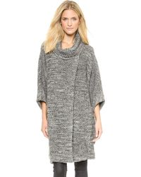 Cut25 By Yigal Azrouël Dolman Sleeve Coat  Dark Heather Melange - Lyst