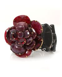 Iradj Moini Ruby Onyx Flower Cuff - Red