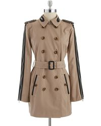 W118 by Walter Baker Zipper Accented Trench Coat - Lyst