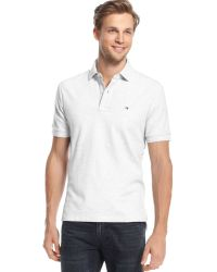 Tommy Hilfiger Big And Tall Solid Ivy Polo - Lyst
