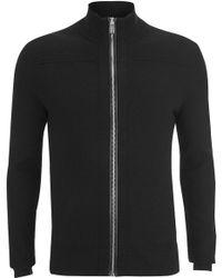 HUGO Men's Sottoman Zip Through Knitted Cardigan - Black