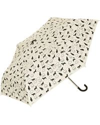 TOPSHOP Raining Cats and Dogs Umbrella - Natural