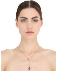 Nina Runsdorf | Ruby Drop Necklace | Lyst