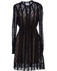 RED Valentino Black Short Dress - Lyst