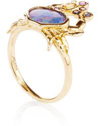 Amsterdam Sauer X Bianca Brandolini - One Of A Kind Crab Black Opal Ring - Lyst