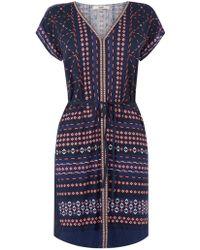 Oasis Dakota Tunic Dress - Multicolour