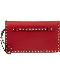 Valentino Rockstud Wristlet Clutch Bag - For Women - Lyst