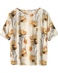 Toast - Sketched Floral Print Jersey Top - Lyst
