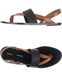 Proenza Schouler Brown Thong Sandal - Lyst