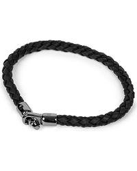 Mulberry Tubular Leather Bracelet - Metallic