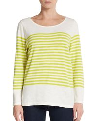 Joie Abina Striped Cotton Top - Lyst