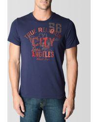True Religion Hand Picked City Of La Mens T-shirt - Lyst