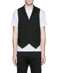 Ziggy Chen Collarless Linen-Cotton Vest - Lyst