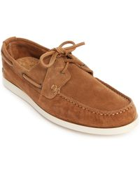 Selected Philip Camel Suede Boat Shoes brown - Lyst