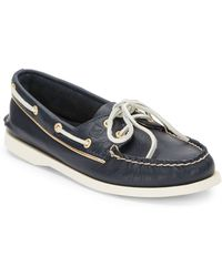 Sperry 2eye Leather Boat Shoes - Lyst