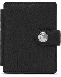 Reiss Cash Suede Panel Card Holder - Black