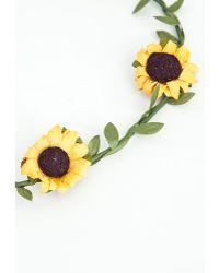 Missguided - Tassia Sunflower Garland - Lyst