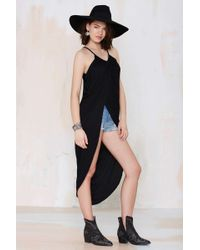 Nasty Gal Madison Square Athena Wrap Maxi Dress - Black - Lyst