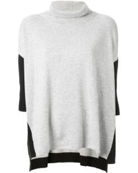 Duffy Roll Neck Poncho Style Sweater - Lyst