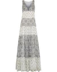 Balmain Printed Silk-Chiffon Maxi Dress - Lyst
