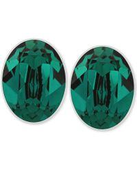 Swarovski Rhodium-plated Stud Earrings - Lyst