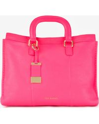Ted Baker Leather Stab Stitch Bag - Lyst