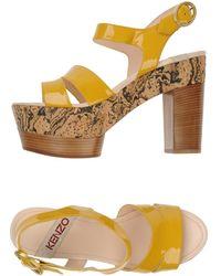 Kenzo Orange Platform Sandals - Lyst