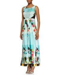 Ranna Gill - Sleeveless Mixed-floral-print Dress - Lyst