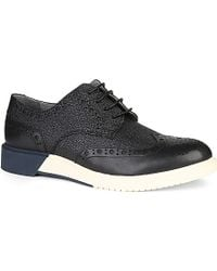Anthony Miles Brogue Derby Leather Shoes - For Men - Lyst