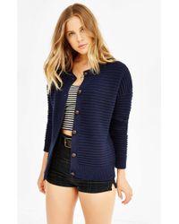 Cooperative Textured Stitch Cardigan - Blue