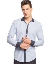 Inc International Concepts Blue Ropes Shirt - Lyst