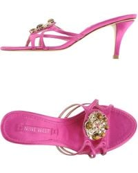 Nine West Sandals purple - Lyst