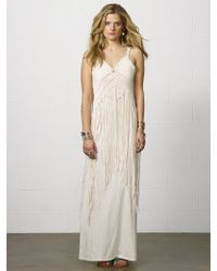 Denim & Supply Ralph Lauren Beige Macram Maxidress - Lyst